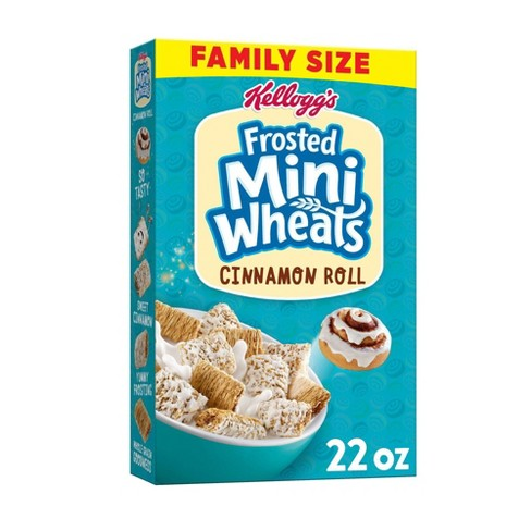 Frosted Mini Wheat Cinnamon Family Size Cereal - 22oz - Kellogg's - image 1 of 4