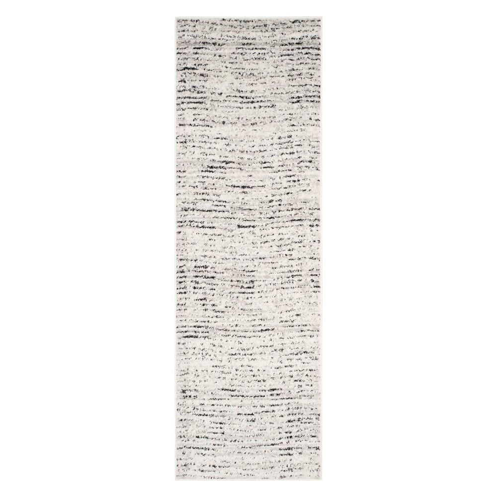 2'6X6' Spacedye Design Runner Ivory/Silver - Safavieh
