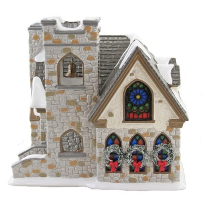 """Department 56 House 7.5"""" Woodlands Family Church Snow Village  -  Decorative Figurines"""