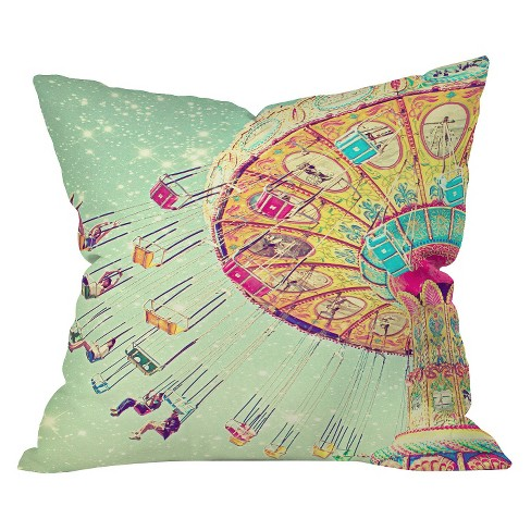 Swinging Through Stars Throw Pillow - Deny Designs® - image 1 of 1