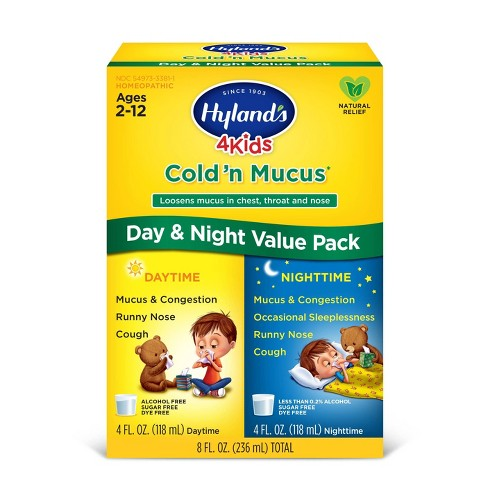 Hyland's 4 Kids Day & Night Cold 'n Mucus Relief Liquid - 8 fl oz - image 1 of 4