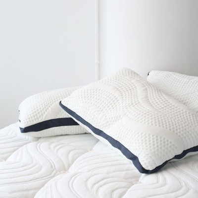 Brentwood Home Oceano Pillow - Cooling Gel Memory Foam, Adjustable Firmness, Zipper Cover