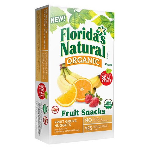 Florida's Natural Au'some Organic Nuggets Fruit Grove Flavored Snacks 10 ct - image 1 of 1