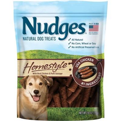Nudges Homestyle Dog Treats - Chicken and Pork Sausage - 18oz