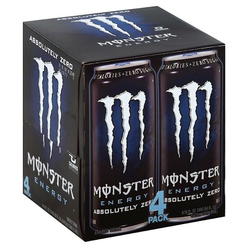 Monster Energy, Absolutely Zero - 4pk/16 fl oz Cans - image 1 of 1