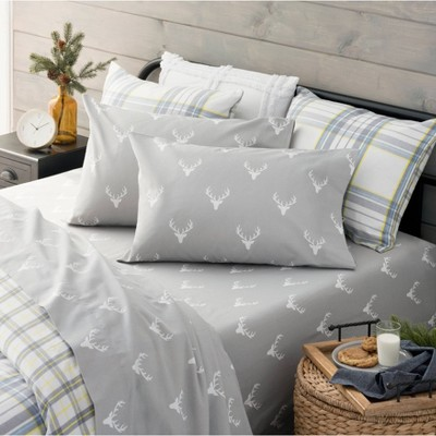 Printed Flannel Sheet Set Deer - Martha Stewart