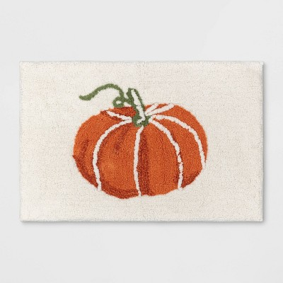 "19""x28"" Pumpkin Tufted Bath Rug Orange - Threshold™"
