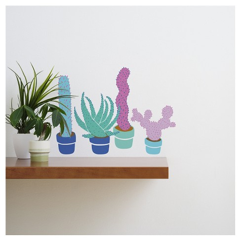 Cacti Buddies Wall Decal - image 1 of 1