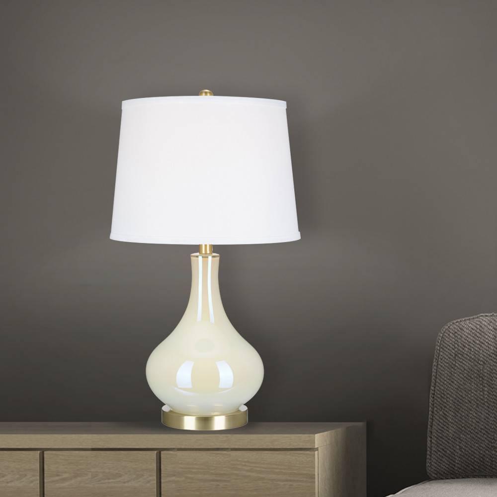 25 25 34 Glass Lamp White Cresswell Lighting