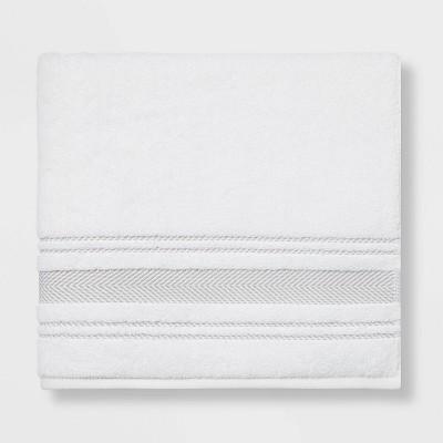 Performance Bath Towel Light Gray Stripe - Threshold™