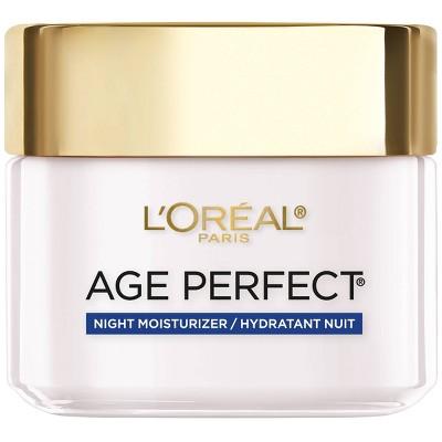L'Oreal Paris Age Perfect Anti-Sagging + Even Tone Night Moisturizer - 2.5oz