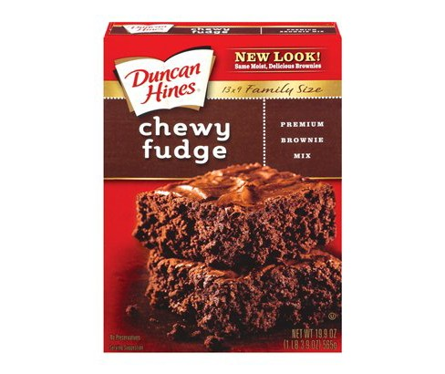 Duncan Hines Chewy Fudge Brownie Mix - 19.95oz - image 1 of 1