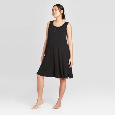 Maternity Sleeveless Nursing Henley Dress - Isabel Maternity by Ingrid & Isabel™ Black S
