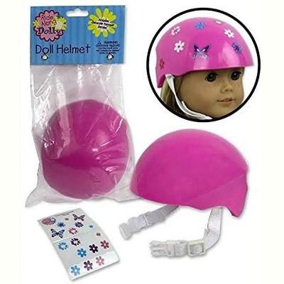 Dress Along Dolly Pink Bike Helmet for American Girl Doll