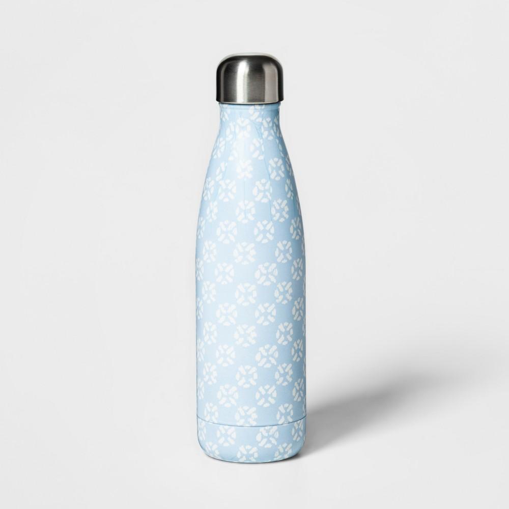 17oz Stainless Steel Hydration Bottle Blue - Threshold