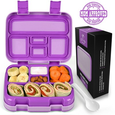 Zulay Kitchen Kids Bento Box - Durable & Professionally Designed Leakproof Bento Box for Kids With Friendly Latches for Easy Access