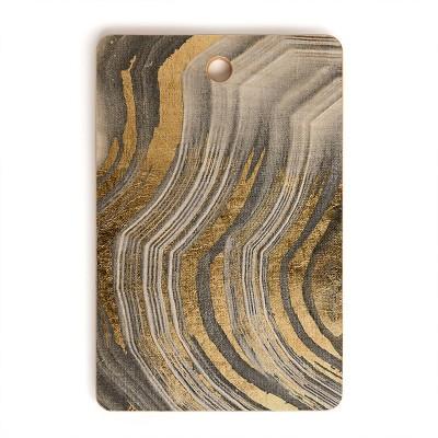 Marta Barragan Camarasa Abstract Paint Modern Rectangle Cutting Board - Deny Designs