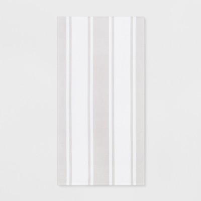 Stripe Beach Towel Gray - Sun Squad™