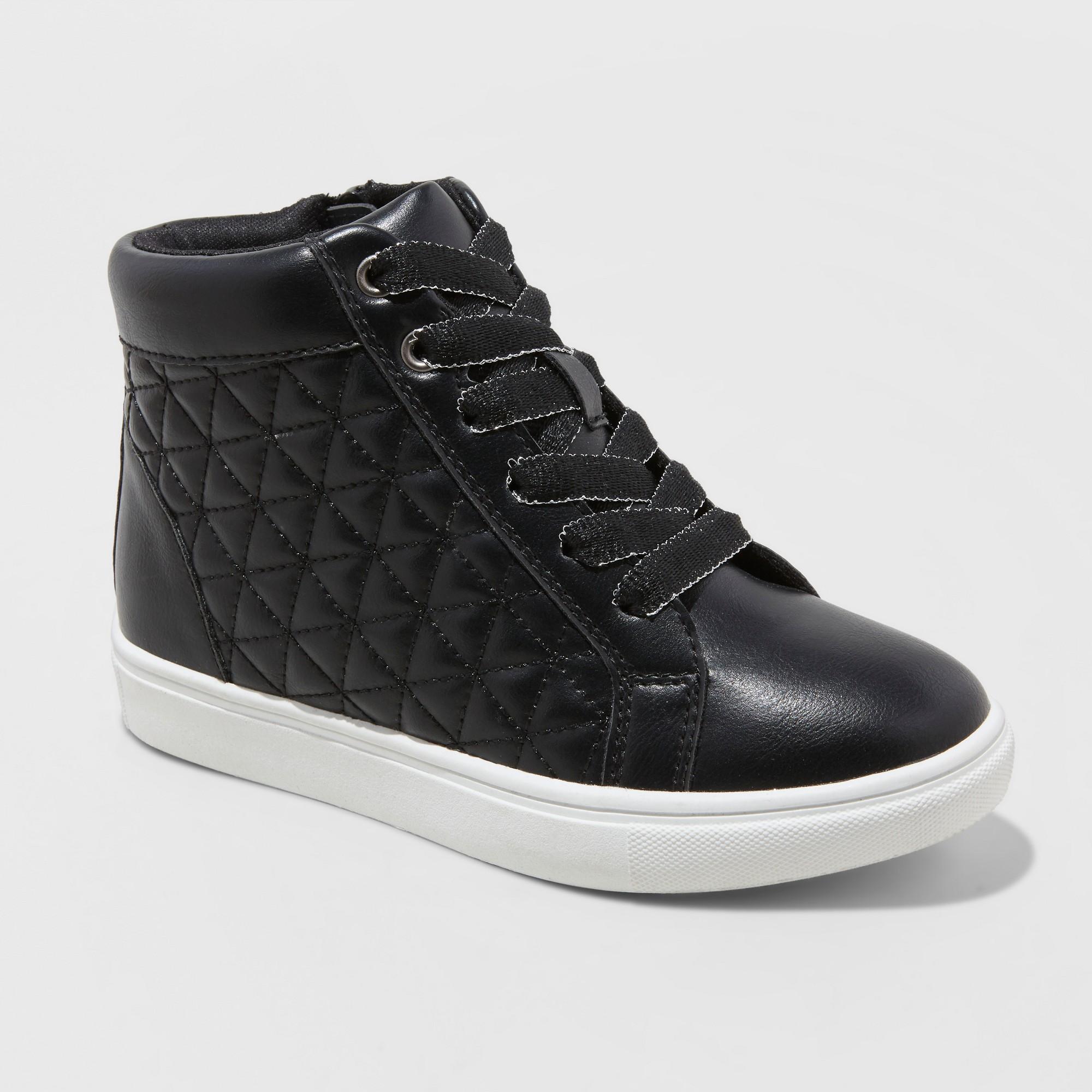 Girls' Meagan Hightop Sneakers - Cat & Jack Black 4