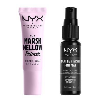 NYX Professional Makeup Makeup Extender Duo - Mini Setting Spray and Marshmallow Primer Kit - 2pk/0.87 fl oz