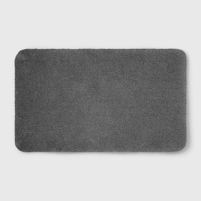 Perfectly Soft Nylon Solid Bath Rug Pigeon Gray - Opalhouse™
