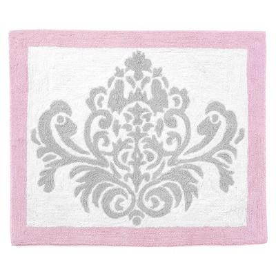 Sweet Jojo Designs Pink and Gray Elizabeth Floor Rug