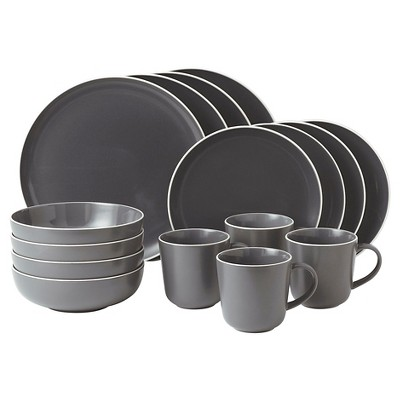 Gordon Ramsay by Royal Doulton® Bread Street Stoneware 16pc Dinnerware Set Slate