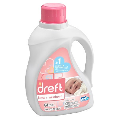 Dreft Stage 1: Newborn HEC Liquid Detergent 100 oz