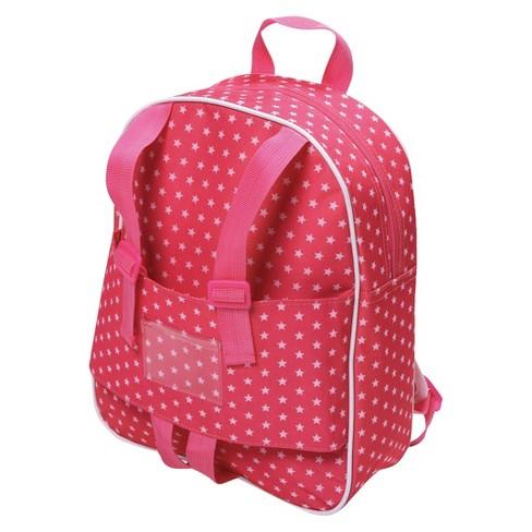 """Badger Basket 18"""" Doll Travel Backpack - Star Pattern - image 1 of 4"""