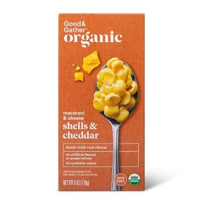Organic Shells & Cheddar Macaroni and Cheese - 6oz - Good & Gather™
