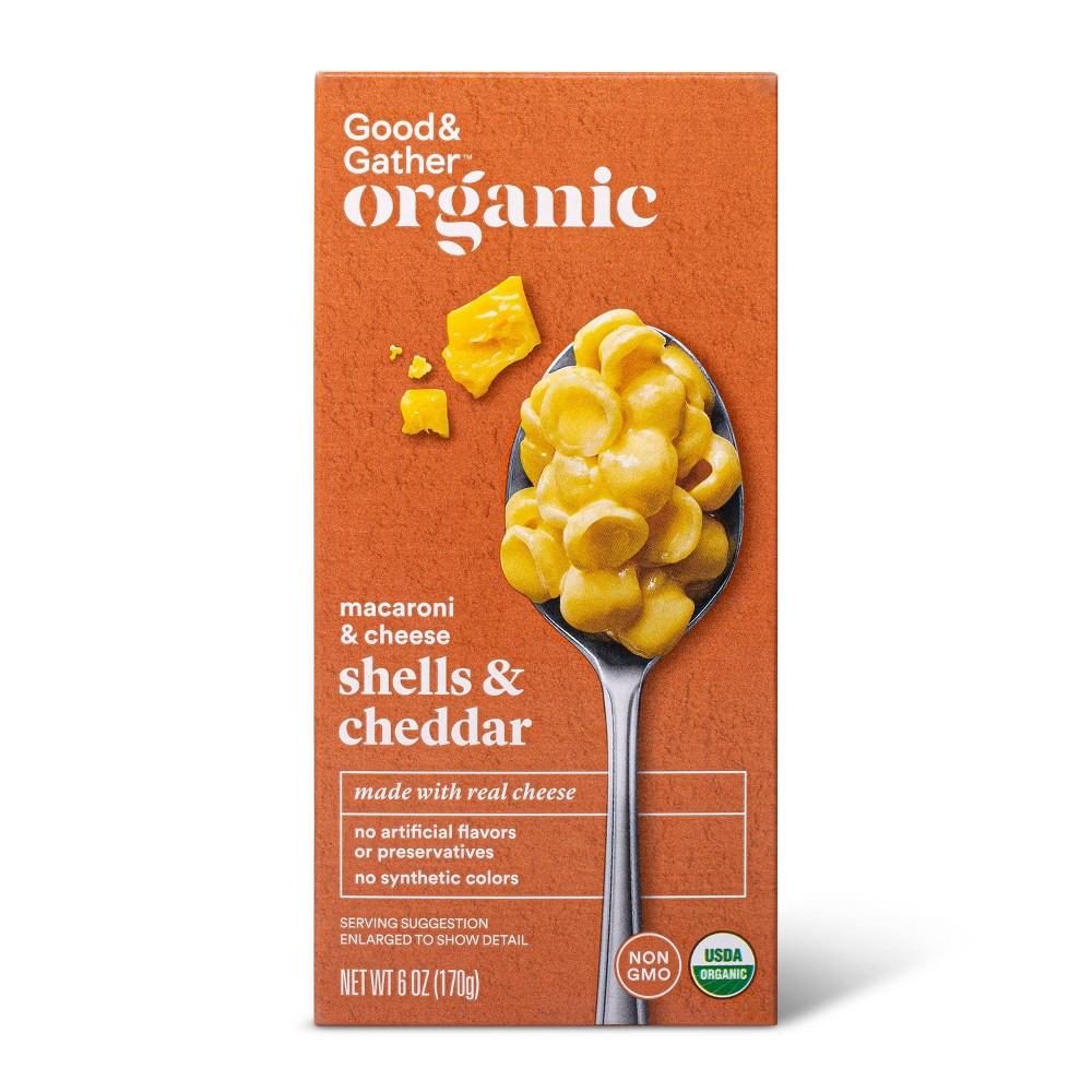 Organic Shells 38 Cheddar Macaroni And Cheese 6oz Good 38 Gather 8482
