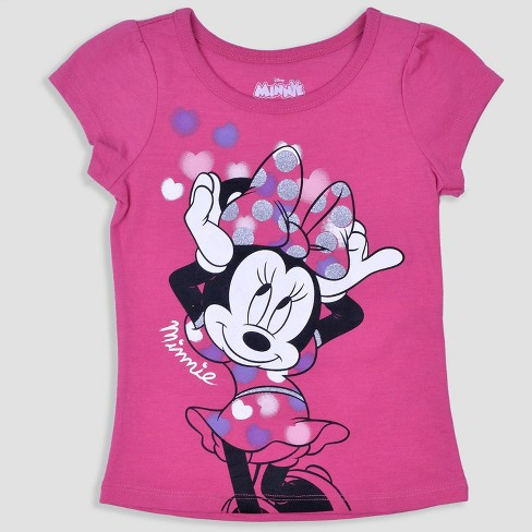 410f443f4 Toddler Girls' 3pk Disney Mickey Mouse & Friends Minnie Mouse Short Sleeve T -Shirt - Pink/White : Target