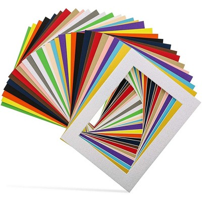 30-Pack 6.5 x 8.5 inch Picture Matted Frame Boards for 5X7 Photos, Assorted Colors