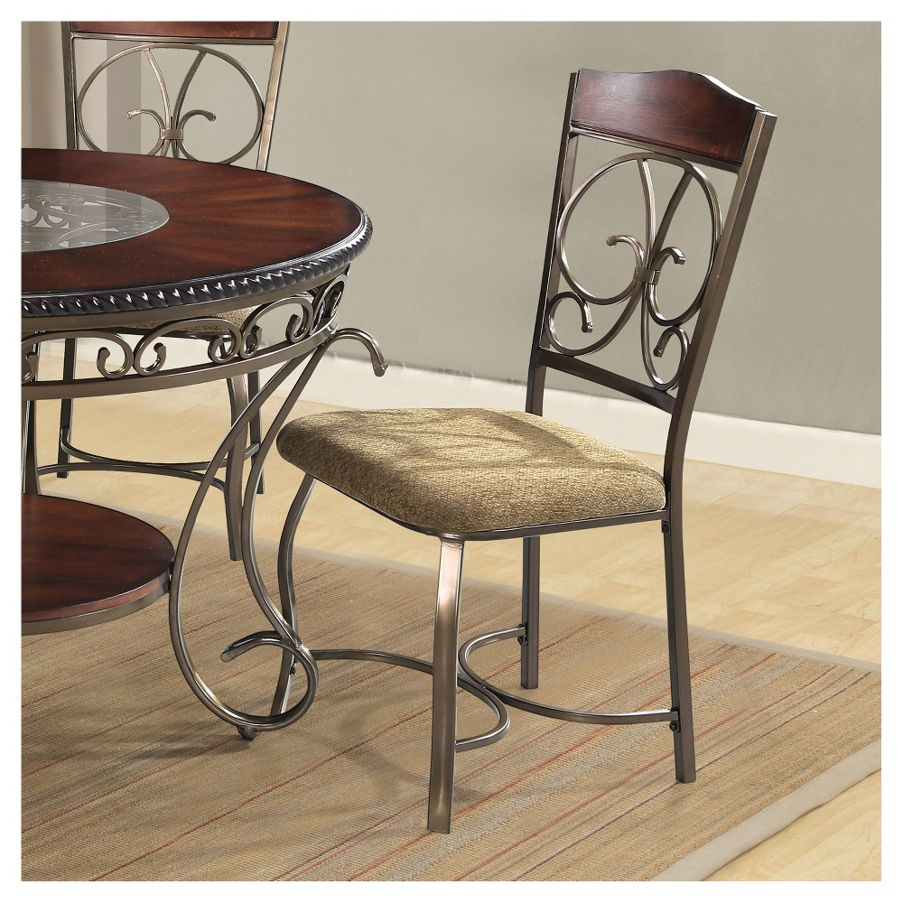 Image of Set of 2 Dani Side Chairs Brown - Home Source Industries