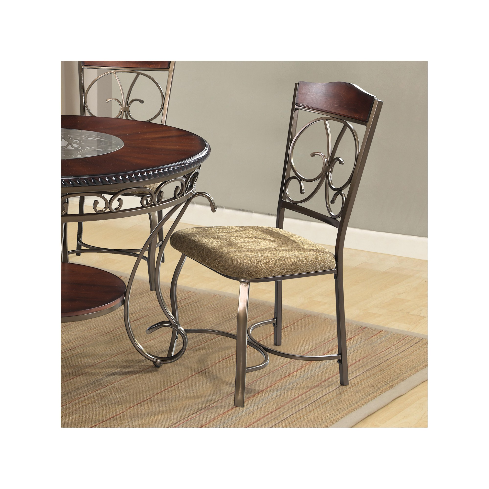 Dani Side Chairs Brown Set of 2 - Home Source Industries