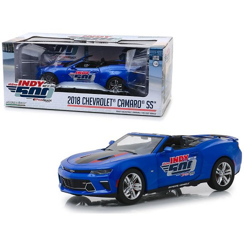 """2018 Chevrolet Camaro SS Convertible Blue """"102nd Indy 500 Presented"""" 1/24 Diecast Model Car by Greenlight - image 1 of 2"""