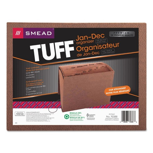 Smead Jan-Dec Expanding File 12 Pocket Letter Redrope Printed 70388 - image 1 of 1