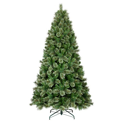 75ft prelit artificial christmas tree virginia pine clear lights wondershop - Pre Lit And Decorated Christmas Trees