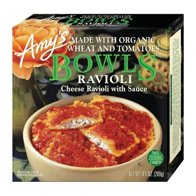 Amy's Frozen  Cheese Ravioli with Sauce Bowl - 9.5oz