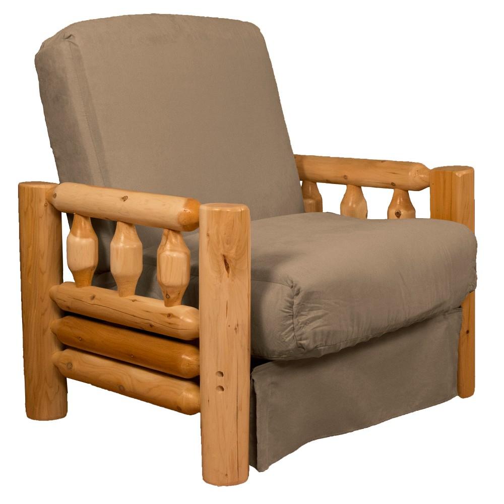 Lodge Perfect Futon Sofa Sleeper Pecan - Epic Furnishings
