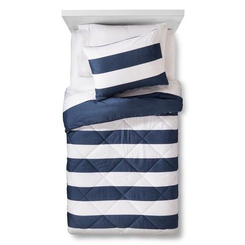 Rugby Stripe Comforter Set - Pillowfort™ - image 1 of 4