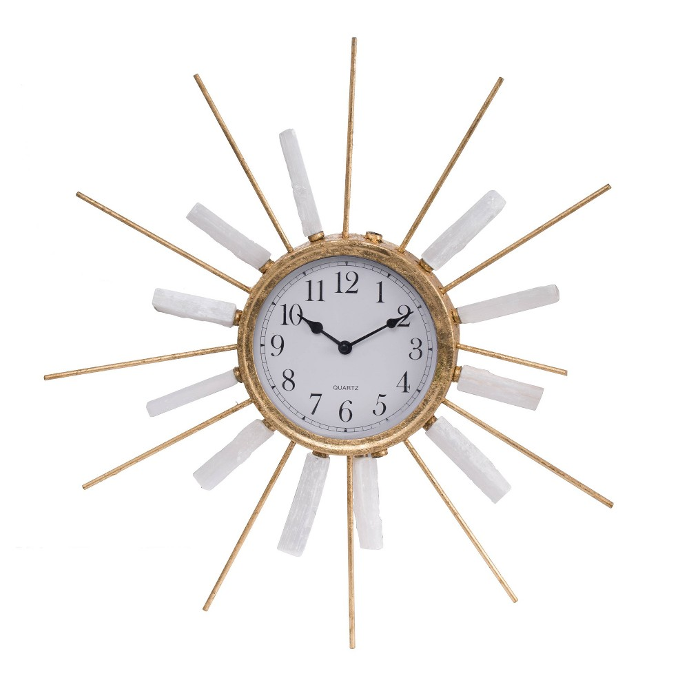 "Image of ""22.5"""" Dulcie Beam Clock Gold - A&B Home"""