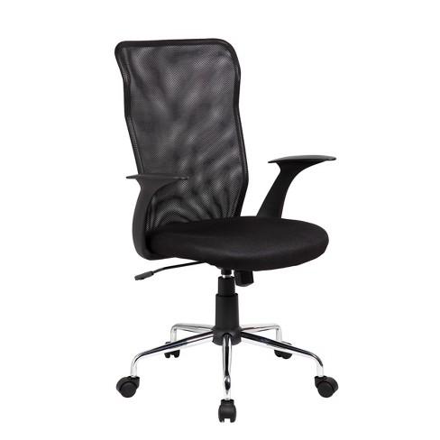 Medium Back Mesh Assistant Chair Black - Techni Mobili - image 1 of 4
