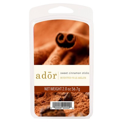 2oz Scented Wax Melts Sweet Cinnamon Sticks - ADOR