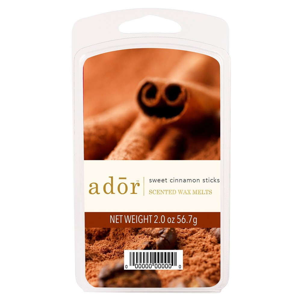 Image of 2oz Scented Wax Melts Sweet Cinnamon Sticks - ADOR, Red