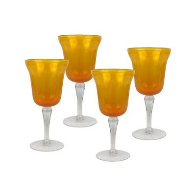 Top Shelf Amber 18 Ounce Wine Glass, Set of 4