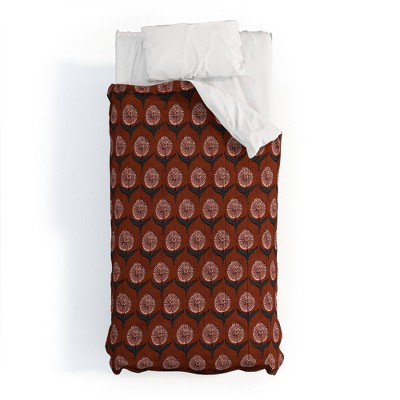 Holli Zollinger Dahlia Flower 100% Cotton Comforter Set - Deny Designs