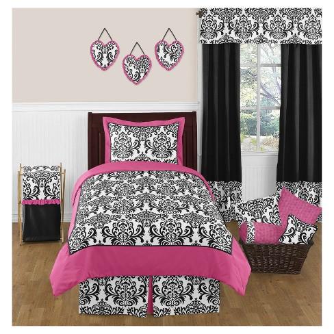 Pink & Black Isabella Comforter Set (Full/Queen) - Sweet Jojo Designs® - image 1 of 1