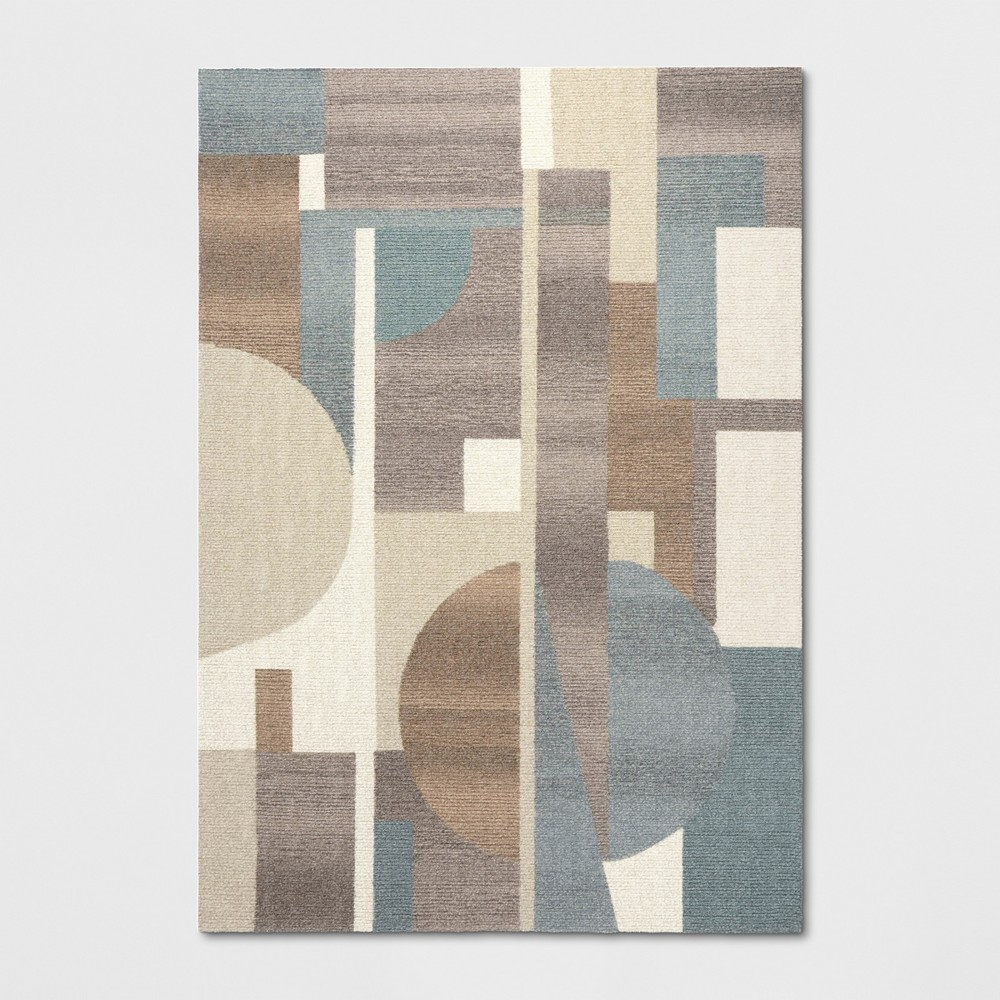 7'X10' Tufted Color Block Area Rug Blue - Project 62