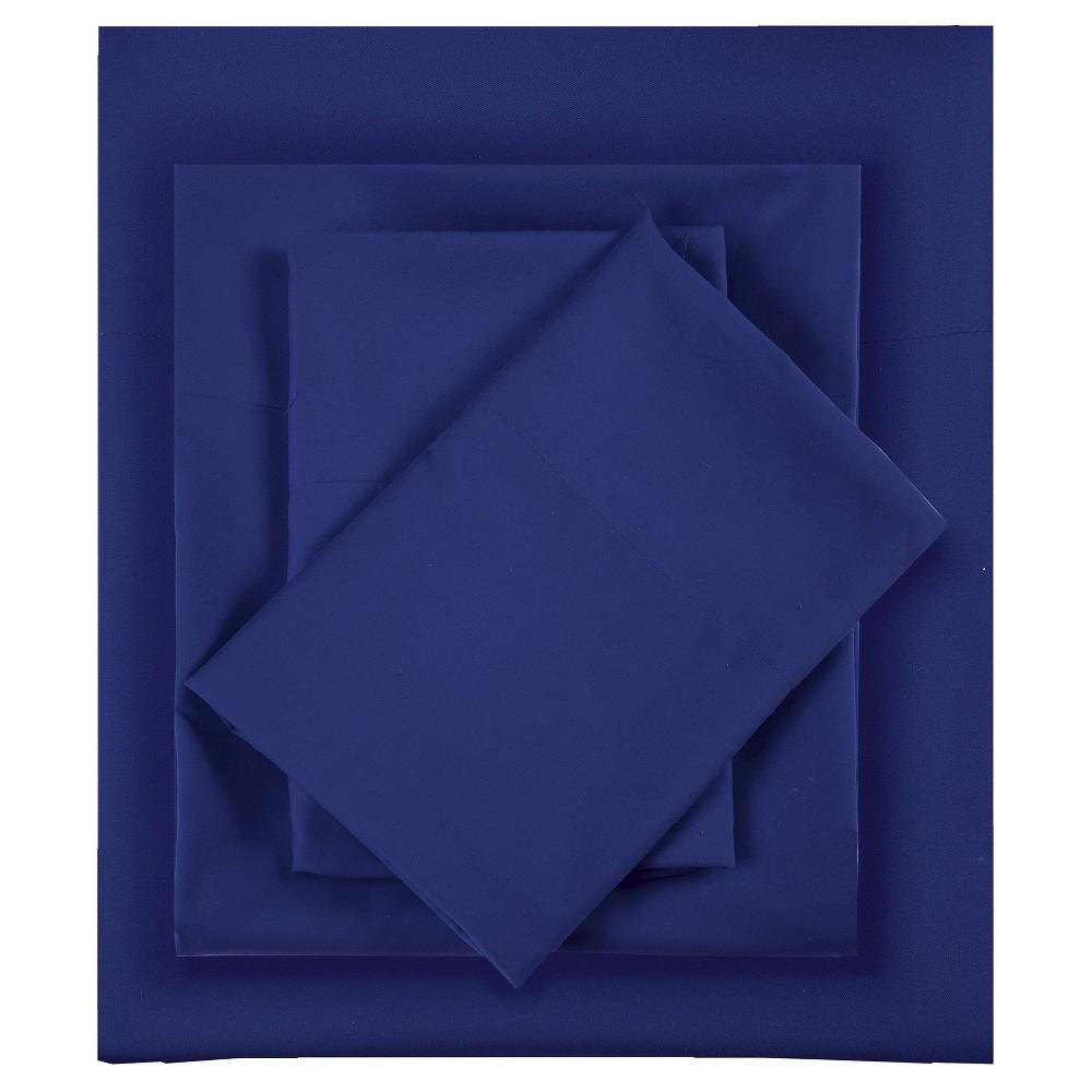 King Microfiber All Season Wrinkle Free Sheet Set Navy
